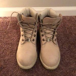 Timberland cream boots